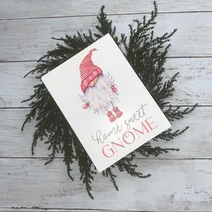 """Gnome wooden sign """"Home Sweet Gnome"""""""